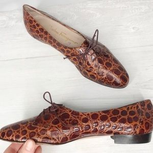 SALVATORE FERRAGAMO Sneakeprint Leather Loafers